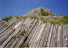 Vulkanische orgelpijpen in Usson
