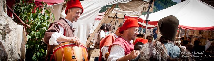 Middeleeuws feest in Allègre, Haute-Loire