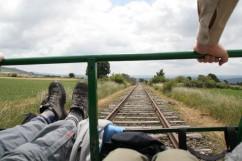 Vélo-rail: fietsen over een oud spoor