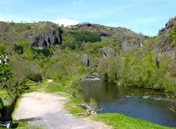 Zwemmen in de rivier Allier bij Monistrol-d'Allier